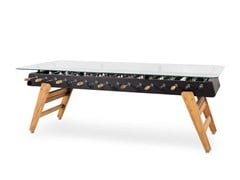 Tavolo da pranzo rettangolare in acciaio e top in vetroRS MAX | Tavolo da pranzo - RS BARCELONA