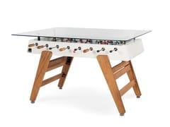 Tavolo da pranzo rettangolare in acciaio e top in vetroRS3 WOOD | Tavolo rettangolare - RS BARCELONA