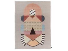 Tappeto a motivi fatto a mano in lana CARTESIO | Tappeto - Signature