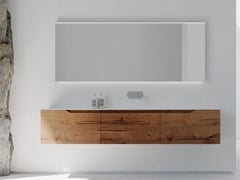 Mobile lavabo singolo sospeso in rovere con cassettiRUSTECH RT01 - ARTEBA
