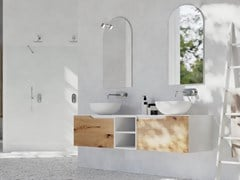 Mobile lavabo doppio in rovere con cassettiRUSTECH RT02 - ARTEBA