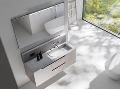 Mobile lavabo laccato sospeso in legno con cassettiRUSTECH RT05 - ARTEBA