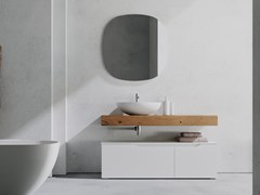 Mobile lavabo laccato singolo in legno con cassettiRUSTECH RT06 - ARTEBA