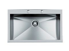 Lavello a una vasca filo top in acciaio inoxS/QUADRA rag.FT B/RUB.INOX - FOSTER