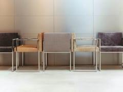 Sedia a slitta in tessuto S01 PARIS | Sedia in tessuto - Sedute