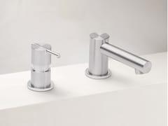Miscelatore per lavabo a 2 fori in acciaio inox S22 T4.12 | Miscelatore per lavabo - S22
