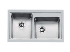 Lavello a 2 vasche filo top in acciaio inoxS4000 2V 34X40 TPR  FT - FOSTER