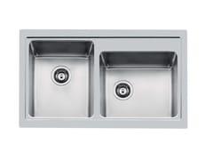 Lavello a 2 vasche da incasso in acciaio inoxS4000 2V 34X40 TPR  Q4 - FOSTER