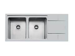 Lavello da incasso in acciaio inox con gocciolatoioS4000 2VDX/SX 34+SC Q4 TPR - FOSTER
