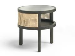 Tavolino in paglia di Vienna con vano contenitoreSACHER - FRATELLI BOFFI
