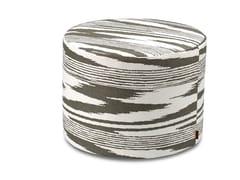 Pouf cilindro in tessuto jacquard tinto in filoSAFI | Pouf - MHOME