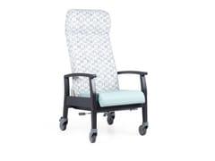Poltrona reclinabile in tessuto con ruoteSAGI HIGH RCL RD - FENABEL - THE HEART OF SEATING