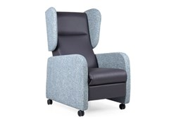 Poltrona a orecchioni reclinabile in pelle con ruoteSAGRES RELAX RD - FENABEL - THE HEART OF SEATING