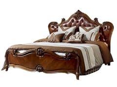 Letto king size in legno massello con testiera capitonnéSALETTI | Letto con testiera capitonné - ARREDIORG