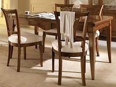 Sedia imbottita con schienale apertoSALIERI | Sedia in legno - ARVESTYLE