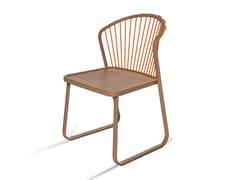 Sedia a slitta da giardino in acciaio inoxSALLY | Sedia a slitta - CORO