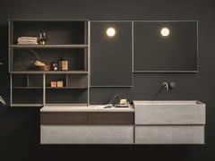 Mobile lavabo sospeso con specchioSAN MARCO - NOVELLO