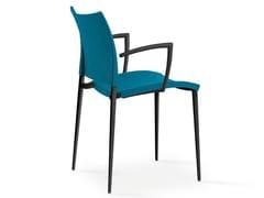 Sedia imbottita impilabile in tessuto con braccioli SAND | Sedia in stile moderno - Sand