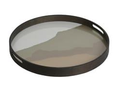 Vassoio rotondo in vetro SAND WABI SABI | Vassoio rotondo - Wabi Sabi
