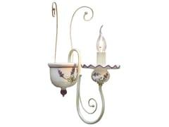 Applique in ceramica e metallo con braccio fisso SANREMO | Applique - Sanremo