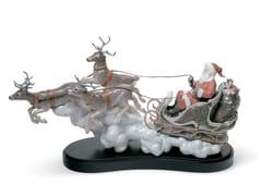 Soprammobile natalizio in porcellanaSANTA'S MIDNIGHT RIDE SLEIGH - LLADRÓ