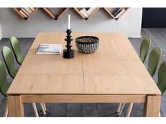Tavolo allungabile da pranzo quadrato in rovere SANTIAGO | Tavolo quadrato - ECOLAB 2