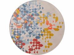 Tappeto rotondo in velluto a motivi geometrici SAPORE DI MARE | Tappeto rotondo -
