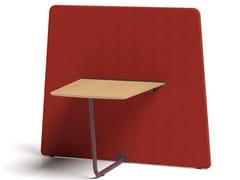 Divisorio ufficio freestanding in legno in stile modernoSAREK | Divisorio con tavolo - POLIURETANOS RIVAS