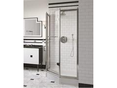 Box doccia angolare pentagonale in vetro con porta a battenteSAVOY J - DEVON&DEVON