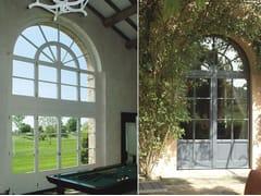 Porta d'ingresso termoisolante in legno per esterno con pannelli in vetroSC80-100 | Porta d'ingresso con pannelli in vetro - CAPOFERRI SERRAMENTI