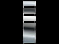 Scaldasalviette in acciaio verniciato a polvere a pareteSCALETTA 25 D - GEBER RADIATORI