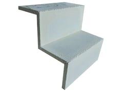 Cornice in cemento alleggerito SCALETTA 2G | Cornice in cemento alleggerito - Lastra +