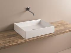 Lavabo da appoggio rettangolare in ceramica SCALINO | Lavabo rettangolare -