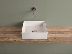 Lavabo da appoggio quadrato in ceramica SCALINO | Lavabo quadrato -