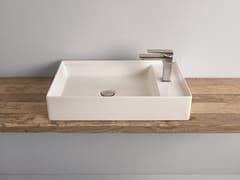 Lavabo da appoggio rettangolare in ceramica SCALINO | Lavabo -