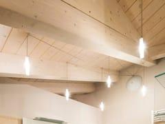 Lampada a sospensione a LED in vetro borosilicatoSCIAME SIGARO - ALBUM ITALIA