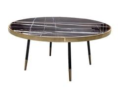 Tavolino rotondo con struttura in metallo e piano in marmoSCOTT - ANA ROQUE INTERIORS