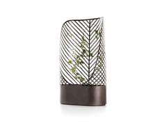 Schermo divisorio da giardino in acciaio Corten™ con grigliatoSCREEN-POT | 2 - DE CASTELLI