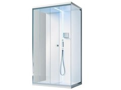 Gruppo Treesse, SCURETTO 812 Box doccia angolare rettangolare in vetro con piatto