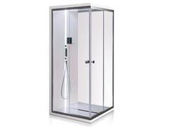 Gruppo Treesse, SCURETTO 990 Box doccia angolare in vetro con piatto