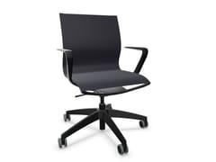 Sedia ufficio ad altezza regolabile in tessuto a 5 razze con braccioliSE:JOY - SEDUS STOLL