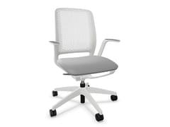 Sedia ufficio ad altezza regolabile in rete a 5 razze con braccioliSE:MOTION - SEDUS STOLL