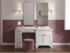 Mobile toilette / mobile lavabo in legno con top in marmoSEASON VANITY - DEVON&DEVON