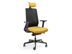Sedia ufficio ad altezza regolabile in rete a 5 razze con poggiatestaSEATTLE | Sedia ufficio con poggiatesta - AP FACTOR