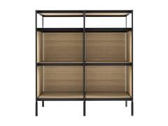 Libreria a giorno in legno impiallacciatoSEC - LIB014 - ALIAS
