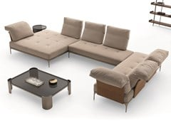 Divano angolare componibile in tessuto con chaise longueADA | Divano componibile - DITRE ITALIA