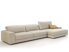 Divano componibile in tessuto con chaise longueWILLIAM | Divano componibile - VALENTINI