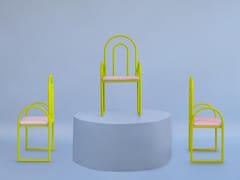 Sedia in metallo con cuscino integratoARCO | Sedia - HOUTIQUE