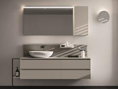 Mobile lavabo sospeso in nobilitato con cassetti SEGNO | Mobile lavabo con cassetti - Segno