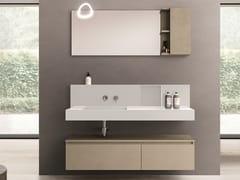 Mobile lavabo sospeso in derivati del legno con cassetti SEGNO | Mobile lavabo in derivati del legno - Segno